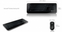 Microsoft 800 Wireless Keyboard & Mouse Black