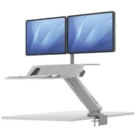 Fellowes Lotus RT Dual Monitor Sit-Stand Desk White