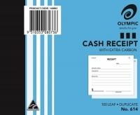 Cash Receipt Book Duplicate 100x125 100LF Olympic 614 PK20