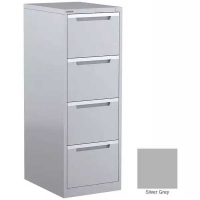 Steelco Filing Cabinet 4 Drawer Silver Grey