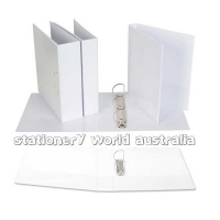 Ecowise Insert Binder A4 2D 40mm (300page) White BX16 NO LABEL