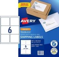 Avery TrueBlock Internet Shipping Labels J8166 6/sh PK50