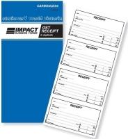 Cash Receipt Book Duplicate 4Up Carbonless Impact CS425