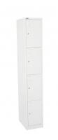 GO Steel Locker 4 Door (H)1830x(W)305x(D)455mm White