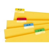 3L Index Tabs 10512 Self Adhesive 40mm Asstd Colours PK48