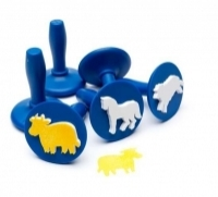 Educational Colours Paint Stampers Farm Animals PSTFA6 Set of 6