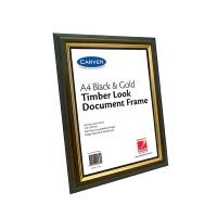 Carven Document Frames A4 Elegant Timber BX6 QFWDTIMA4