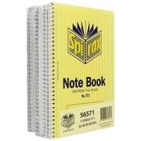 Spirax Notebook 571 A5 300page SideOpen PK5