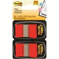 3M Post It Flags 680-RD2 Red Twin Pack 2 Cards of 50