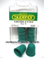 Esselte Superior Thimblette Thumb Grips No 0 (small) Green