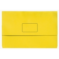 Marbig Slimpick Bright Document Wallet Manilla Fcap PK10 YELLOW