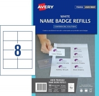 Avery L7418K Card Name Badges Refill 86.5x55.5mm PK25sheets