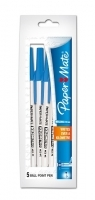 Papermate Kilometrico Ballpoint Pens PK5 Med Blue