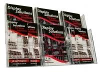 Deflecto Brochure Holder Lit-Loc Wall Display A5 x6