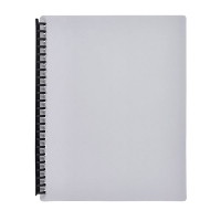 Marbig A4 Refillable Display Book 20pocket 2007011 Grey