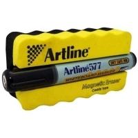 Artline 577 whiteboard Magnetic Eraser & Marker Kit Black 157795