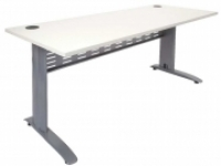 RAPID SPAN DESK 1800x700mm White Top/Silver Legs