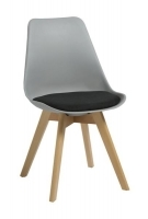Rapidline Virgo Hospitality Chair Grey with Black Pad