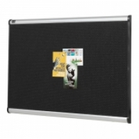 Quartet Prestige Black Foam Pinboard Alum QTB347A 1800x1200