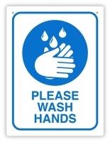 DURUS Please Wash Hands Sign