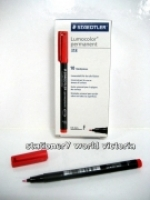 Staedtler 318-2 Lumocolor Pen (0.6mm) BX10 Fine Red