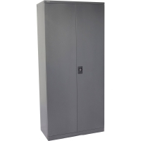Go Steel Stationery Cupboard 2000H 4 Shelf Graphite Ripple