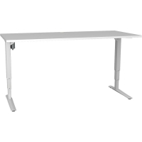 CONSET 501-43 ELECTRIC HEIGHT ADJ DESK White melamine 1800x800