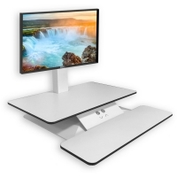 STANDESK ELECTRIC SIT STAND Workstation +Keyboard Platform White