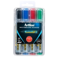Artline 579 Whiteboard Marker Chisel Magnetic Case Asstd PK4