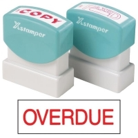 XSTAMPER STAMP - Overdue (Red) 1171 (5011710)