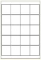 Custom Label 448 A4 BX100 20/sheet White 50x50