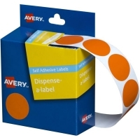 Avery Dispenser Label 24mm Orange BX500