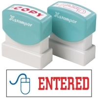 XSTAMPER STAMP - Entered (2 colour) 2027 (5020270)
