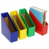 Marbig Book Boxes 8005705 Small: 90Wx250Dx270H (mm) Pkt5 Yellow