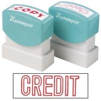 XSTAMPER STAMP - CREDIT (Red) 1019 (5010190)