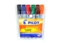 Pilot Wyteboard Marker WBMA-TM Bullet Tip Wallet 6asstd