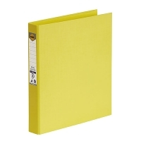 Marbig Ring Binder A4 25mm 2R 25mm PE Linen Yellow