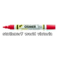 Osmer Paint Marker Quick Dry BX12 (2.5mm) 2903 Red