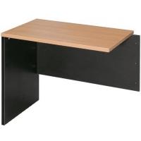 OM Desk Open Return LHS 1200x600mm Beech/Charcoal