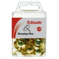 Drawing Pins Esselte Brass PK150