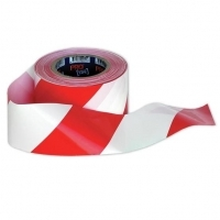 Zions Barricade Safety Tape 100Mt x 75mm Red/White