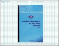 Zions Advance Bookings at a Glance Record Book 450x290mm ADV35