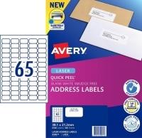 Avery Laser Label L7651 BX100 65/sheet 38x21mm
