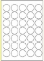 Custom Label 468 A4 BX100 35/sheet White 35 dia