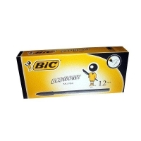 BIC ECONOMY BALLPOINT PENS 0144 BX12 Fine Black