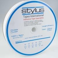 Stylus Hook & Loop Fastener 50mm x 25M White HOOK ONLY