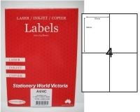 Rediform Labels Multipurpose A4 BX100 A4/4C (4/sh) 104x149
