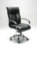 BIG BOY Directors Chair MidBack Leather +Arms FSBIGMBBK