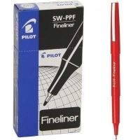 Pilot Fineliner Marking Pen (SW-PPF) 600403 (0.4mm) BX12 Red