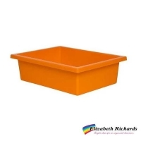 Elizabeth Richards Plastic Tote Tray Orange